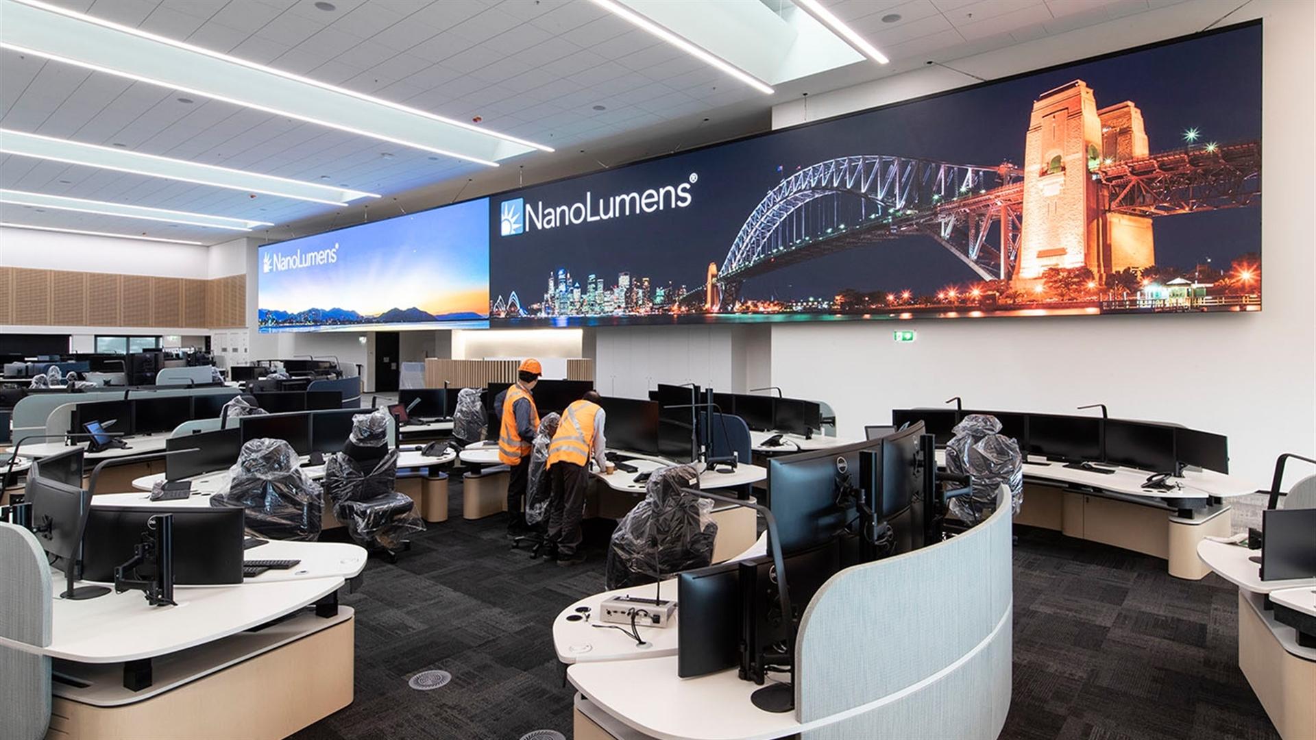 Sydney Trains ROC installed with largest NanoLumens display