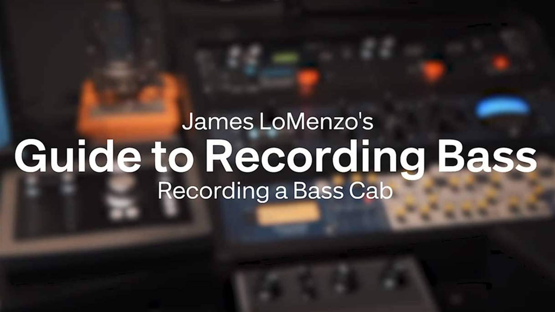 Miking A Bass Cab James Lomenzos Guide To Recording Part 3 Complete Basic Electronics
