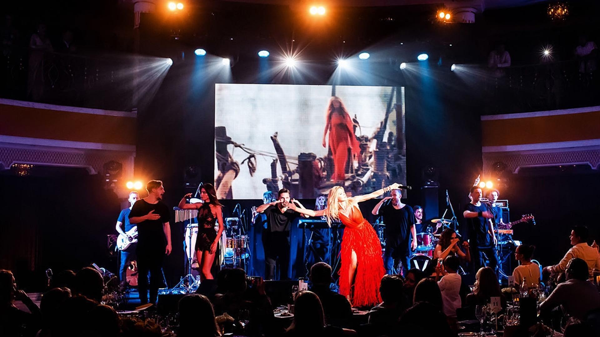 Vera Brezhnev during the concert, led the skirt 04/13/2018 63
