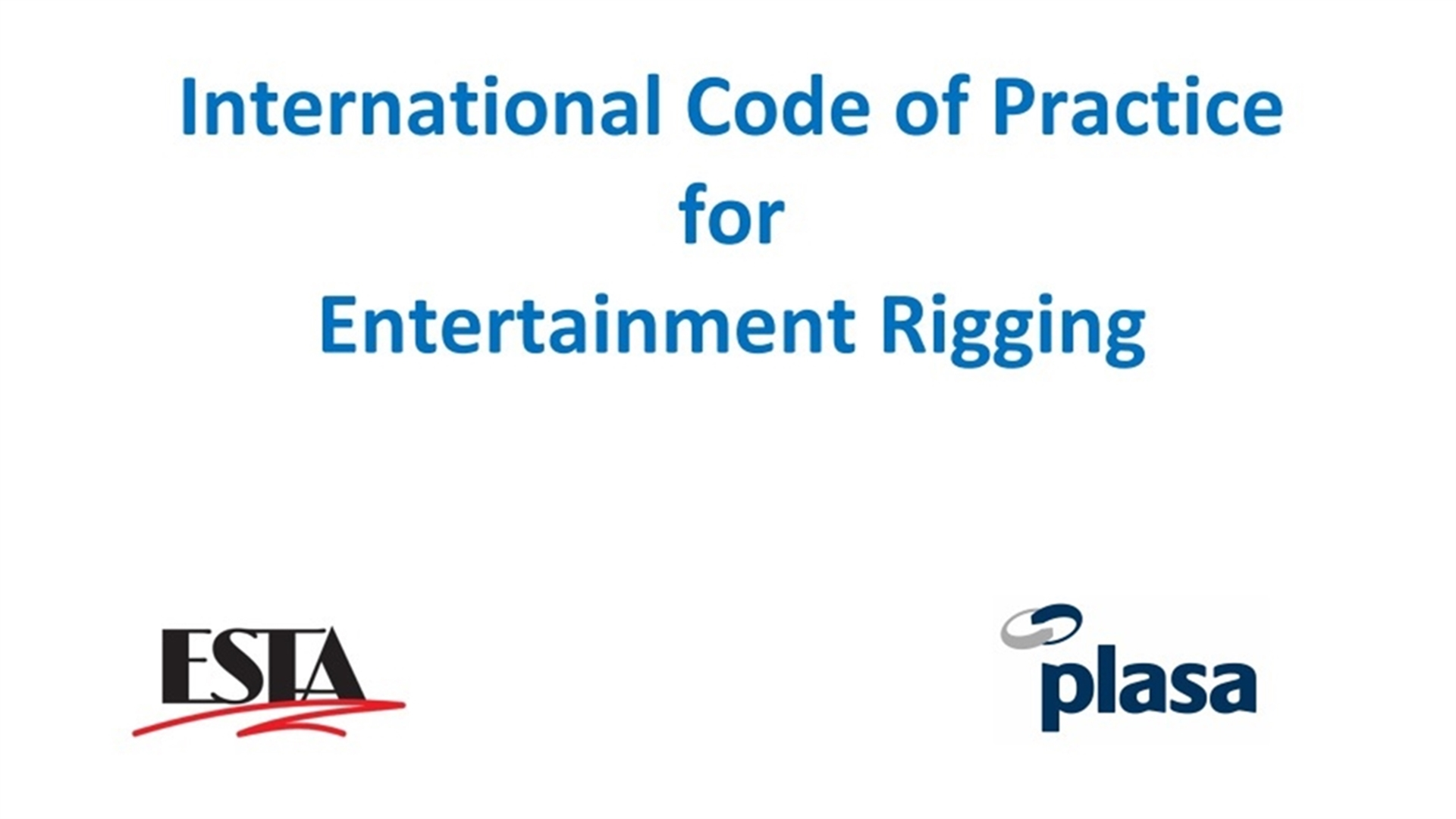 Code of practice launched world esta and plasa have released the international code of practice for entertainment rigging icoper as a free download 1betcityfo Image collections