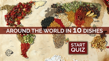 Food from around the world picture quiz